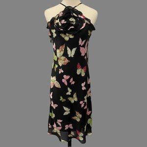 ZARA  Butterfly Rosette Halter Dress- Large